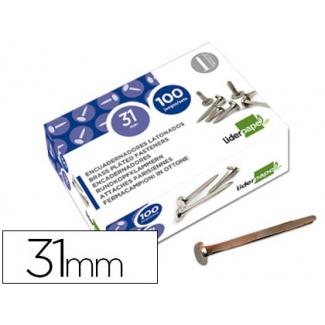 Liderpapel FS15 - Encuadernador, niquelado, nº 7, longitud de 31 mm, caja de 100