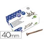 Encuadernadores Liderpapel Nº 8 40 mm caja de 100