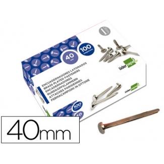 Liderpapel FS16 - Encuadernador, niquelado, nº 8, longitud de 40 mm, caja de 100