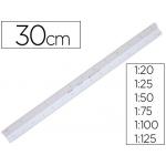 Escala Faber-Castell plástico 153-a 1:20-25-50-75-100-125