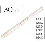 Escala Faber-Castell plástico 153-b 1:100-200-250-300-400-500