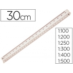 Escala Mor 1:100-200-250-300-400-500 30 cm estuche flexible
