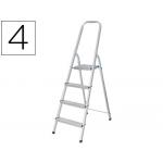 Escalera Q-Connect de aluminio 4 peldaños mm peso maximo 150 kg