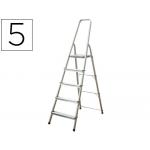 Escalera Q-connect de aluminio 5 peldaños mm peso maximo 150 kg