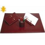 Escribanía de sobremesa artesanía de piel juego de 4 piezas medidas 40x60x0,6 cm