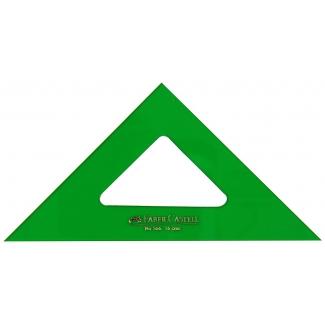 Escuadra Faber-Castell 16 cm plástico color verde