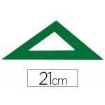 Escuadra Faber-Castell 21 cm plástico color verde