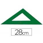 Escuadra Faber-Castell 28 cm plástico color verde