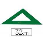 Escuadra Faber-Castell 32 cm plástico color verde