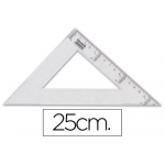 Escuadra Liderpapel 25 cm plástico cristal
