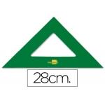 Escuadra Liderpapel 28 cm acrilico color verde