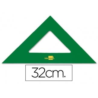 Liderpapel ES08 - Escuadra acrílica, sin graduación, hipotenusa de 32 cm, color verde