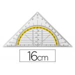 Escuadra Liderpapel geometría 16 cm plástico cristal
