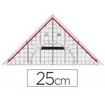 Escuadra Mor geometría 25 cm plástico cristal