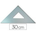 Escuadra Q-connect 30 cm aluminio