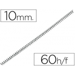 Espiral metálico Q-connect 56 4:1 10 mm 1 mm caja de 200 espirales