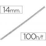 Espiral metálico Q-connect 64 5:1 14 mm 1 mm caja de 100 espirales