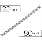 Espiral metálico Q-connect 64 5:1 22 mm 1,2 mm caja de 100 espirales