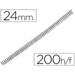 Espiral metálico Q-Connect 64 5:1 24 mm 1,2 mm caja con 100 espirales
