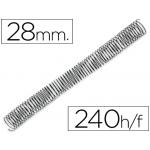 Espiral metálico Q-connect 64 5:1 28 mm 1,2 mm caja de 50 espirales