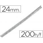 Espiral metálico Q-connect color negro paso 64 5:1 24 mm calibre 1,1 mm