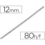Espiral metálico Yosan color negro paso 56 4:1 12 mm calibre mm