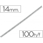Espiral metálico Yosan color negro paso 56 4:1 14 mm calibre mm