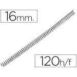 Espiral metálico Yosan color negro paso 56 4:1 16 mm calibre mm