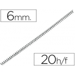 Espiral metálico Yosan color negro paso 56 4:1 6 mm calibre mm