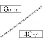 Espiral metálico Yosan color negro paso 56 4:1 8 mm calibre mm
