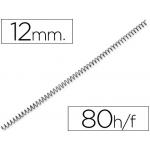 Espiral metálico Yosan color negro paso 64 5:1 12 mm calibre mm