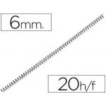 Espiral metálico Yosan color negro paso 64 5:1 6 mm calibre mm