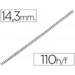 Espiral metálico Yosan sistema wire-o color negro paso 3:1 14,3 mm capacidad 110 hojas 9/16