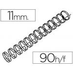 Espiral wire 3:1 11 mm Nº 7 color negro capacidad 90 hojas caja de 100 unidades
