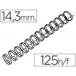 Espiral wire 3:1 14,3 mm Nº 9 color negro capacidad 125 hojas caja de 100 unidades