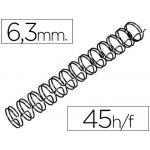 Espiral wire 3:1 6,3 mm Nº 4 color negro capacidad 45 hojas caja de 100 unidades
