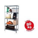 Estantería metálica ar storage 180x90x40 cm 5 estantes 80 kg por estante color gris