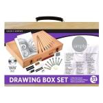 Estuche de pintura Daler Rowney caja de madera con 31 piezas