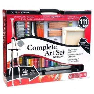 Estuche de pintura Daler Rowney set completo para artista con 111 piezas