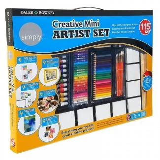 Estuche de pintura Daler Rowney set creativo para artistas con 115 piezas