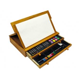 Estuche de pintura stetro caja de madera 100 piezas cofre - Donde conseguir cajas de madera ...