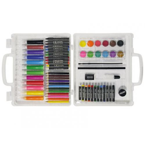 Estuche de pintura stetro caja de pl stico 67 piezas maletin papeler a distrimar - Pintura para plastico ...