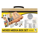 Estuche de pintura Daler Rowney caja de madera con 34 piezas