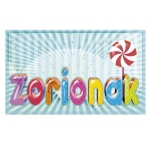 Etiqueta Arguval zorionak modelo 67 rollo de 250 unidades euskera