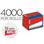 Etiqueta adhesiva Apli 1673 tamaño 19 mm redondas en rollo de 4000 unidades