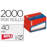 Etiqueta adhesiva Apli 1685 tamaño 19x40 mm en rollo de 2000 unidades