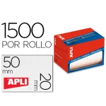 Etiqueta adhesiva Apli 1686 tamaño 20x50 mm en rollo de 1500 unidades