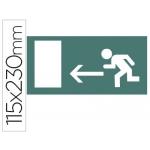 Etiqueta adhesiva Apli de señalizacion indicador dirección a la izquierda de puertas de salida 115x230 mm