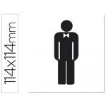 Etiqueta adhesiva Apli de señalizacion silueta hombre 114x114 mm