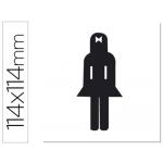 Etiqueta adhesiva Apli de señalizacion silueta mujer 114x114 mm